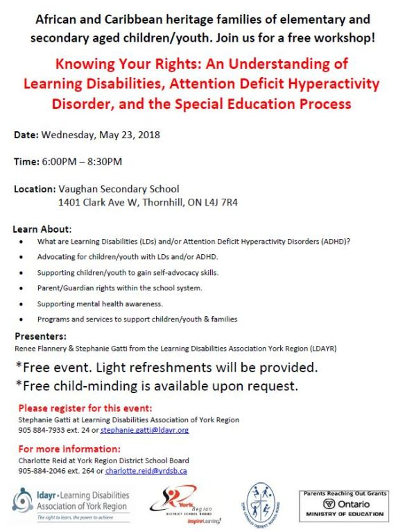 Learning Disabilities May 2018